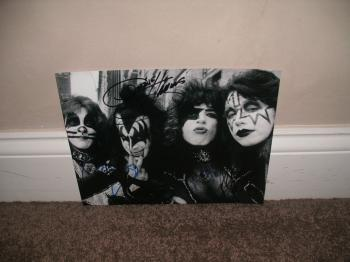 Image of Kiss Band Autographed 8X10 Picture