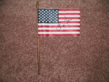 Image of Barack Obama Autographed Mini USA Flag