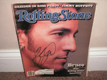 Image of Bruce Springsteen Autographed 1992 Rolling Stone Magazine