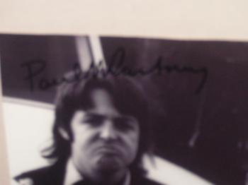 Image of Paul McCartney autographed 60's 9x11 magazine photo