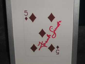 Image of Frank Sinatra Autographed/Framed Playing Card