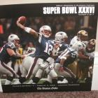 Image of Tom Brady Autographed Patriots 10X10 Boston Globe Photo
