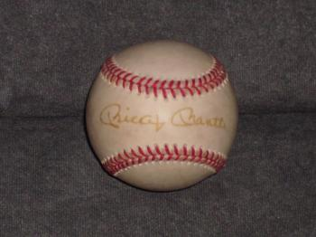 Image of Mickey Mantle single signed  certified baseball!!