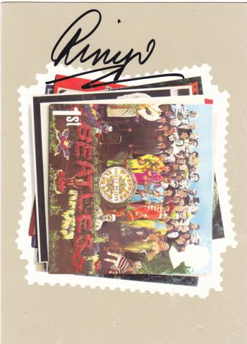 "Image of Ringo Starr Autographed ""Beatles"" postcard"
