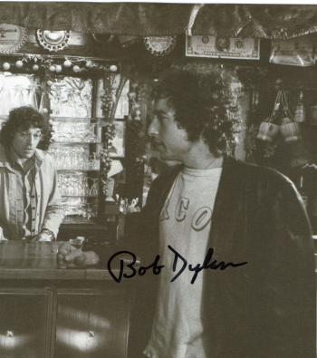 Image of Bob Dylan autographed 70's 6x6 magazine photo