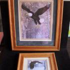 Image of Set of 2 matted/framed signed/dated BUTLER lithographs