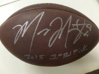 Image of Marcus Mariota #8 autographed Football with great inscription!