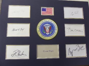 "Image of ""Presidents"" hand signed/custom matted display."