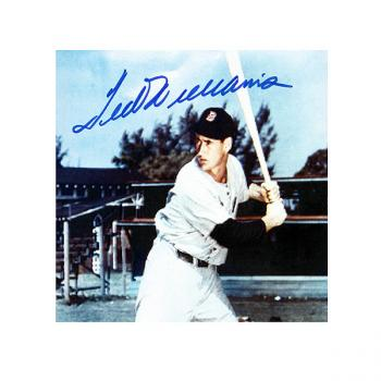"Image of Autographed Williams ""Batting Practice"" 5x7 Color"